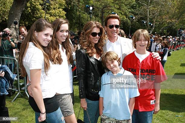 Katherine Schwarzenegger Christina Schwarzenegger Maria Shriver Governor Arnold Schwarzenegger Christopher Schwarzenegger and Patrick Schwarzenegger