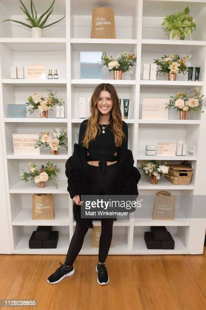 Katherine Schwarzenegger hosts Galentine's Day Glow with Biossance at Alo Yoga Beverly Hills on February 12, 2019 in Beverly Hills, California.