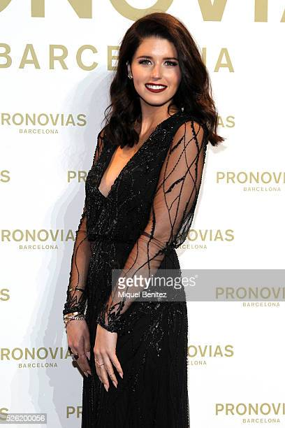 Katherine Schwarzenegger poses during a photocall for Pronovias bridal collection during the 'Barcelona Bridal Fashion Week 2016' at Italian Pavilion...