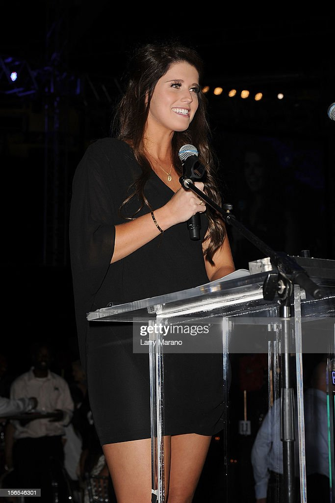 Katherine Schwarzenegger speaks onstage at the Zenith Watches Best Buddies Miami Gala at Marlins Park on November 16, 2012 in Miami, Florida.