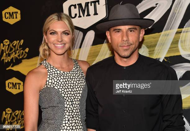 Katherine Stephans and Billy Dec attend the 2018 CMT Music Awards at Bridgestone Arena on June 6 2018 in Nashville Tennessee