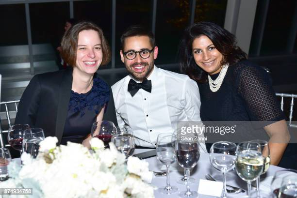 Katherine Stirling William Lopez and Parisa Jaffer attend The Aga Khan Foundation Gala at The Metropolitan Museum of Art on November 15 2017 in New...