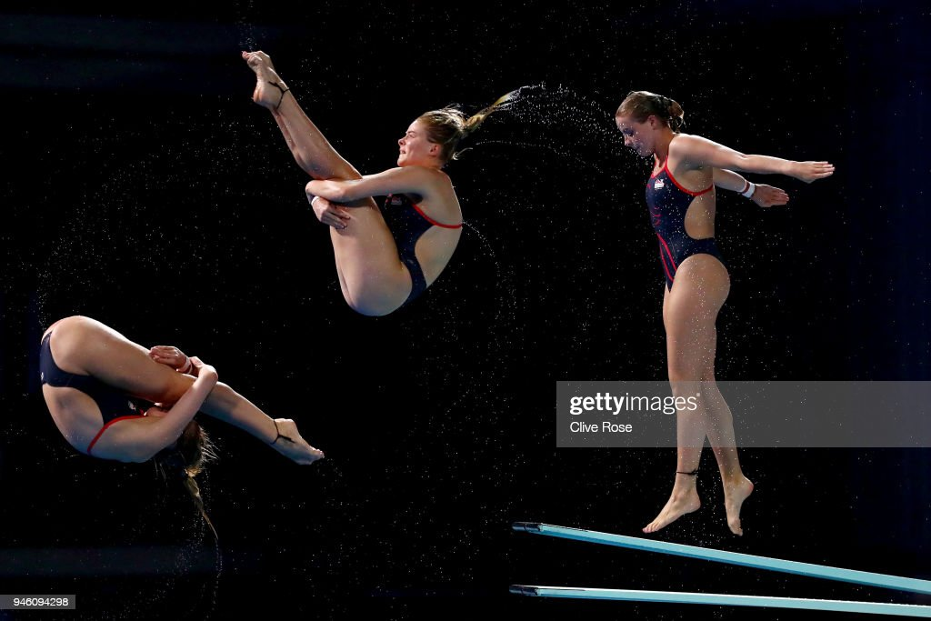 Katherine Torrance of England competes in the Women's 3m Springboard Diving Final on day 10 of the Gold Coast 2018 Commonwealth Games at Optus Aquatic Centre on April 14, 2018 on the Gold Coast, Australia.