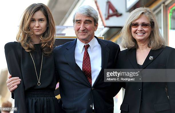 Katherine Waterston actor Sam Waterston and Lynn Waterston attend The Hollywood Walk of Fame Star ceremony honoring actor Sam Waterston on January 7...