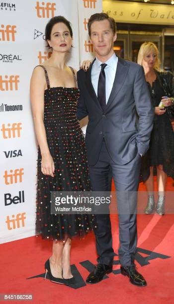 Katherine Waterston and Benedict Cumberbatch attend 'The Current War' premiere during the 2017 Toronto International Film Festival at Princess of...