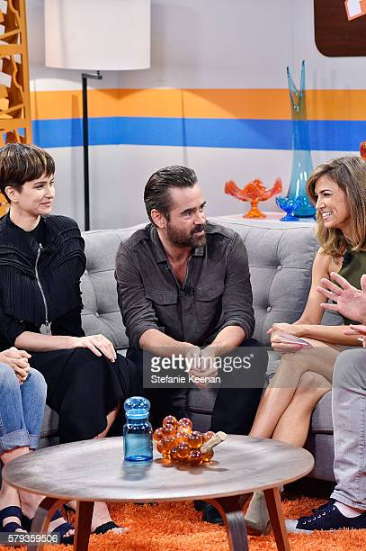 Katherine Waterston and Colin Farrell of 'Fantastic Beasts and Where to Find Them' visit the Fandango Studio San Diego ComicCon International 2016 on...