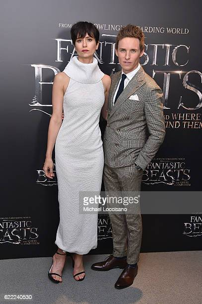 Katherine Waterston and Eddie Redmayne attend the Fantastic Beasts And Where To Find Them World Premiere at Alice Tully Hall Lincoln Center on...