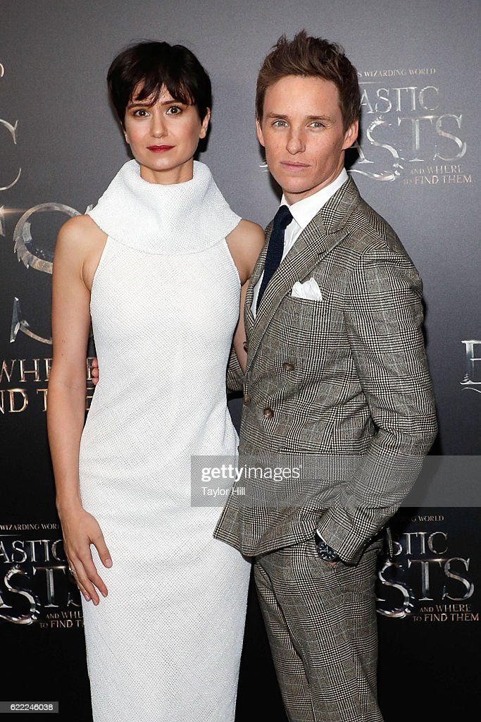 Katherine Waterston and Eddie Redmayne attend the premiere of 'Fantastic Beasts and Where to Find Them' at Alice Tully Hall, Lincoln Center on November 10, 2016 in New York City.