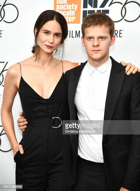 Katherine Waterston and Lucas Hedges attend the Mid90s screening during the 56th New York Film Festival at Elinor Bunin Munroe Film Center on October...