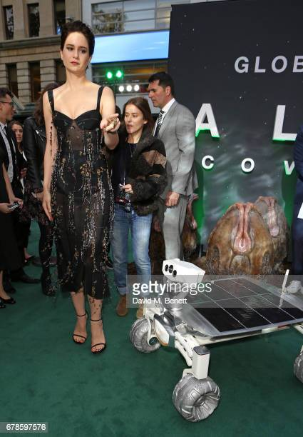 Katherine Waterston arrives in an Audi at the Alien Covenant Premiere at Leicester Square on May 4 2017 in London England