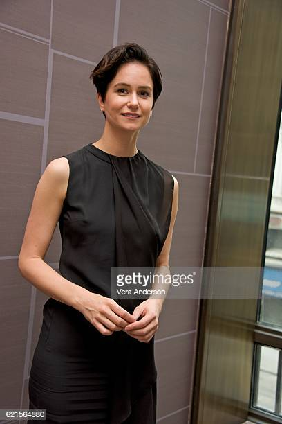 Katherine Waterston at the 'Fantastic Beasts and Where to Find Them' Press Conference at the Four Seasons Downtown on November 6 2016 in New York City