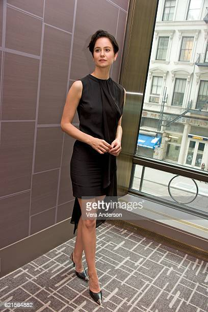 Katherine Waterston at the Fantastic Beasts and Where to Find Them Press Conference at the Four Seasons Downtown on November 6 2016 in New York City