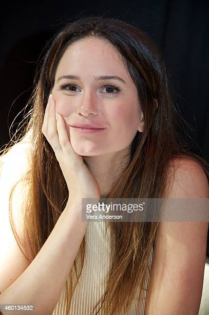 Katherine Waterston at the Inherent Vice Press Conference at The Los Angeles Athletic Club on December 6 2014 in Los Angeles California