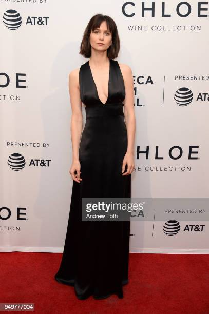 Katherine Waterston attends a screening of State Like Sleep during the 2018 Tribeca Film Festival at SVA Theatre on April 21 2018 in New York City