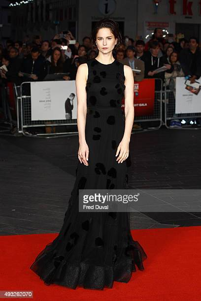 Katherine Waterston attends a screening of Steve Jobs on the closing night of the BFI London Film Festival at Odeon Leicester Square on October 18...