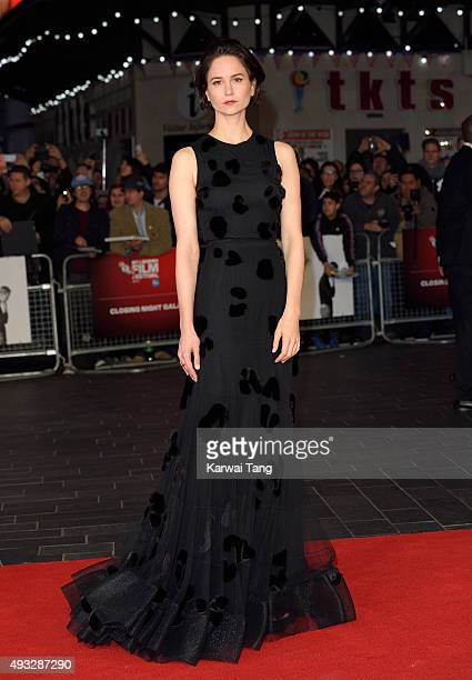 Katherine Waterston attends a screening of 'Steve Jobs' on the closing night of the BFI London Film Festival at Odeon Leicester Square on October 18...