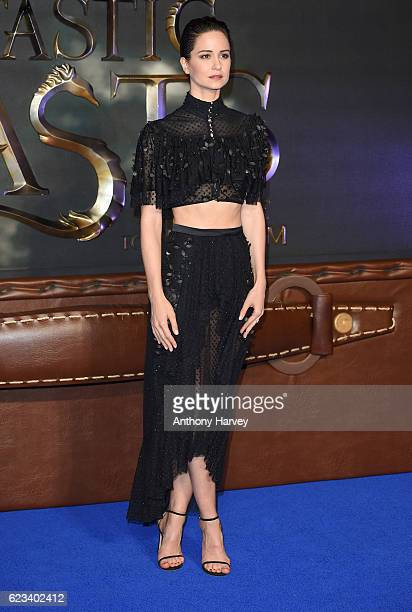 Katherine Waterston attends the European premiere of Fantastic Beasts And Where To Find Them at Odeon Leicester Square on November 15 2016 in London...