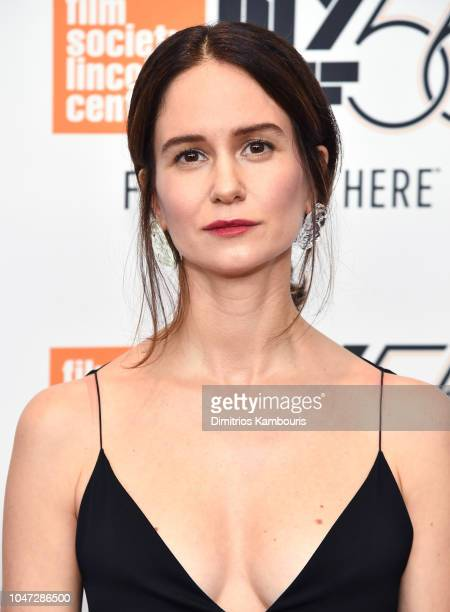 Katherine Waterston attends the Mid90s screening during the 56th New York Film Festival at Elinor Bunin Munroe Film Center on October 7 2018 in New...