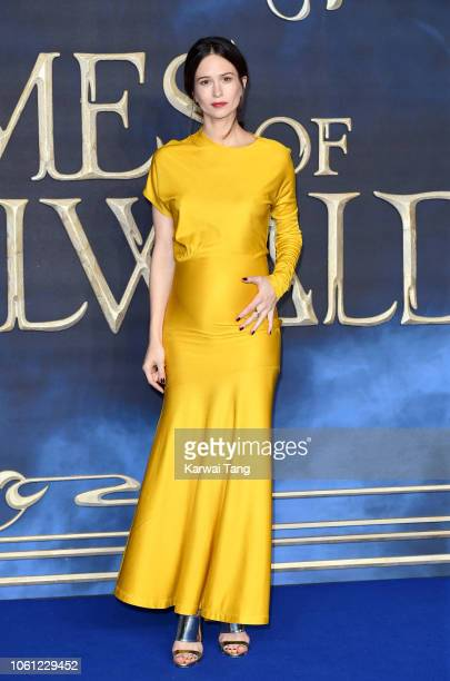 Katherine Waterston attends the UK Premiere of Fantastic Beasts The Crimes Of Grindelwald at Cineworld Leicester Square on November 13 2018 in London...