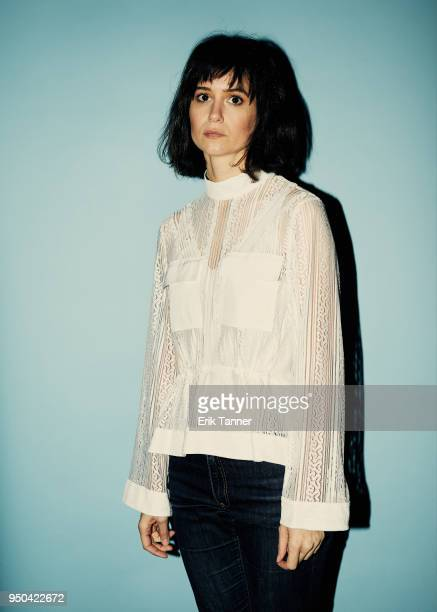 Katherine Waterston of the film State Like Sleep poses for a portrait during the 2018 Tribeca Film Festival at Spring Studio on April 21 2018 in New...