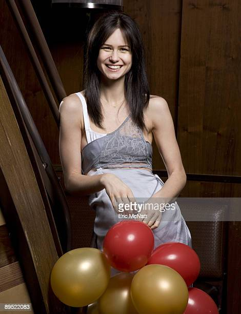 Katherine Waterston poses for a portrait session at the VIP room in the Marquee on January 4 New York NY