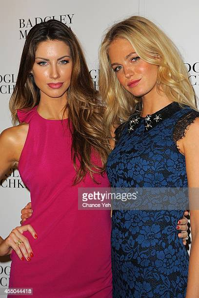 Katherine Webb and Erin Heatherton attend Badgley Mischka with Yappn Corp Brings Fotoyapp To MercedesBenz Fashion Week at Lincoln Center on September...