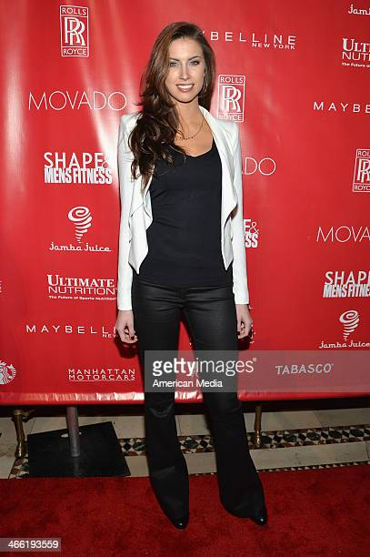 Katherine Webb attends SHAPE Men's Fitness Kickoff Party at Cipriani 42nd Street on January 31 2014 in New York City