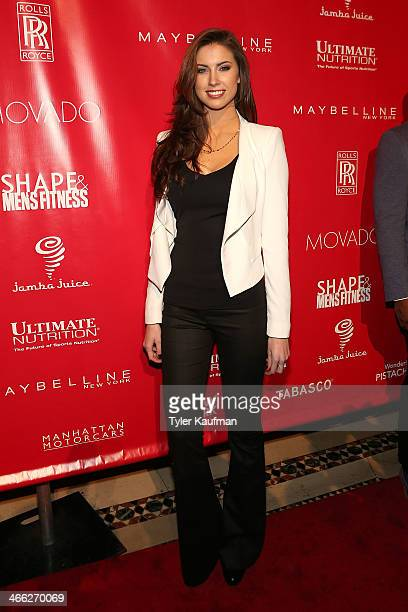 Katherine Webb attends the 2014 Shape Men's Fitness Super Bowl Party at Cipriani 42nd Street on January 31 2014 in New York City