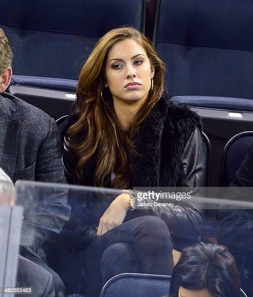 Katherine Webb attends the Phoenix Coyotes vs New York Rangers game at Madison Square Garden on March 24 2014 in New York City