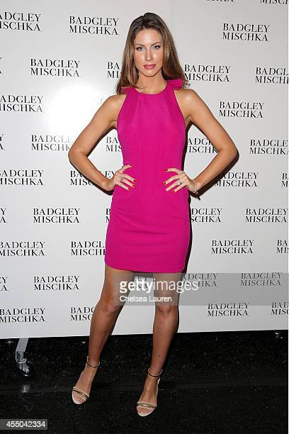 Katherine Webb backstage at the Badgley Mischka fashion show during MercedesBenz Fashion Week Spring 2015 at The Theatre at Lincoln Center on...