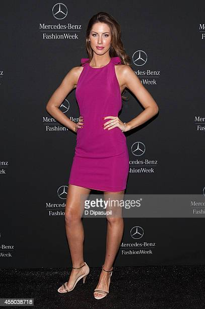 Katherine Webb is seen during MercedesBenz Fashion Week Spring 2015 at Lincoln Center for the Performing Arts on September 9 2014 in New York City