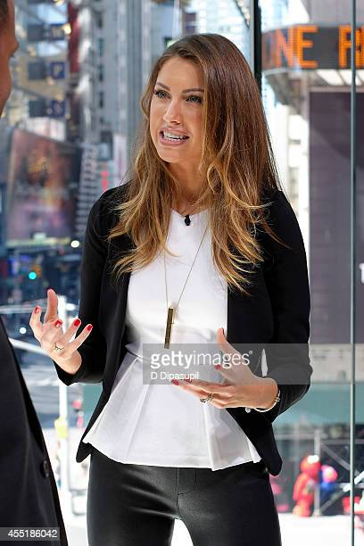 Katherine Webb visits Extra at their New York studios at HM in Times Square on September 10 2014 in New York City