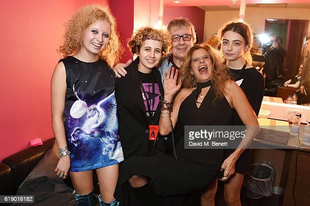 Katherine Wyman Matilda Wyman Bill Wyman Suzanne Wyman and Jessica Wyman attend Bill Wyman's 80th Birthday Gala as part of BluesFest London at Indigo...