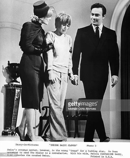 Kathering Bard and Christopher Plummer console Natalie Wood in a scene from the film 'Inside Daisy Clover' 1965