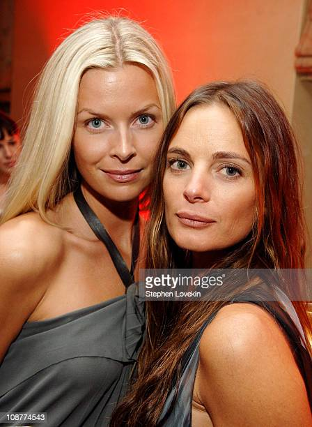 Katheryn Kovarik and Gabrielle Anwar during The Tudors Advanced Screening March 28 2007 at The W Union Square Hotel in New York City New York United...