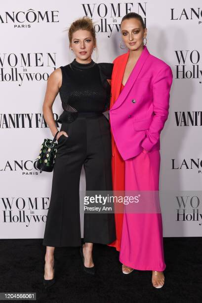 Katheryn Winnick and Georgia Hirst attend the Vanity Fair and Lancôme Women in Hollywood celebration at Soho House on February 06 2020 in West...