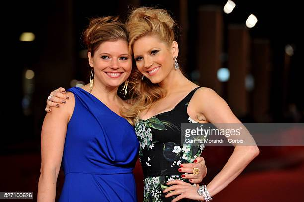 Katheryn Winnick and her sister Daria Winnick at 7��Rome film Festival Film Festival during the premiere of the film A glimpse insid the mind of...