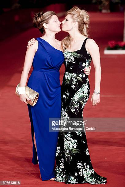 Katheryn Winnick and sister Daria attend A Glimpse Inside the mind of charles Swan III premiere during the 7th International Rome Film Festival