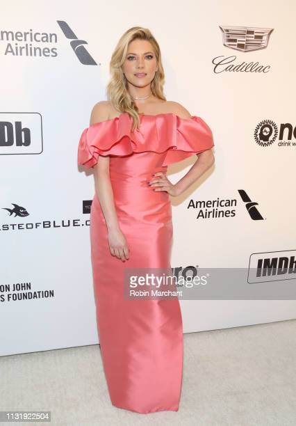 Katheryn Winnick attends 27th Annual Elton John AIDS Foundation Academy Awards Viewing Party Celebrating EJAF And The 91st Academy Awards on February...