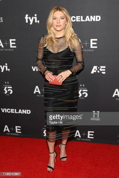Katheryn Winnick attends the 2019 AE Upfront at Jazz at Lincoln Center on March 27 2019 in New York City