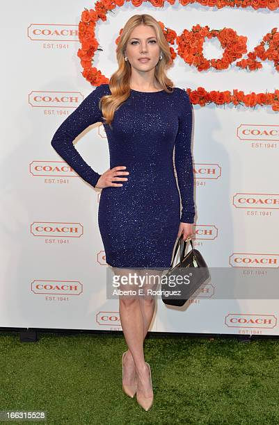 Katheryn Winnick attends the 3rd Annual Coach Evening to benefit Children's Defense Fund at Bad Robot on April 10 2013 in Santa Monica California
