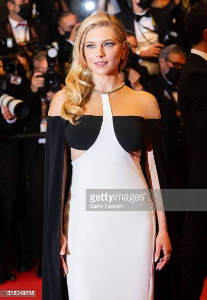"""Katheryn Winnick attends the """"Flag Day"""" photocall during the 74th annual Cannes Film Festival on July 11, 2021 in Cannes, France."""