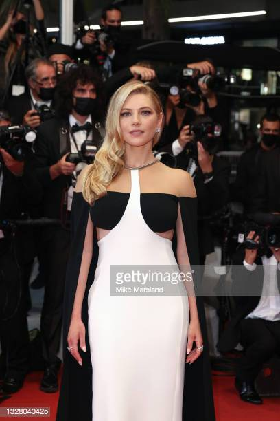 """Katheryn Winnick attends the """"Flag Day"""" screening during the 74th annual Cannes Film Festival on July 10, 2021 in Cannes, France."""