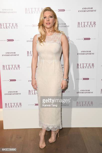 Katheryn Winnick attends the gala screening of 'Bitter Harvest' at the Ham Yard Hotel on February 20 2017 in London United Kingdom