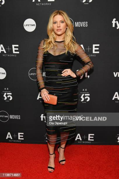 Katheryn Winnick of History's Vikings attends the 2019 AE Networks Upfront at Jazz at Lincoln Center on March 27 2019 in New York City