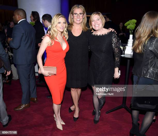 Katheryn Winnick President and Chief Executive Officer AE Networks Nancy Dubuc and Devon Graham Hammonds attend the 2017 AE Networks Upfront At Jazz...