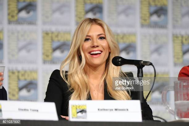 Katheryn Winnick speaks onstage during the Call of Duty WWII Nazi Zombies Panel at San Diego Convention Center on July 20 2017 in San Diego California