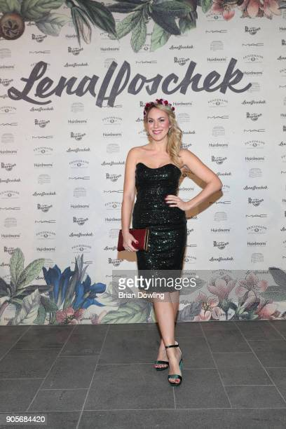 Kathi Woerndl attends the Lena Hoschek Fashion Show Berlin at Botanischer Garten on January 16 2018 in Berlin Germany