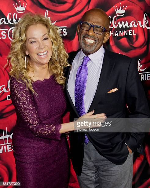 Kathie Lee Gifford and Al Roker attend Hallmark Channel Movies and Mysteries Winter 2017 TCA Press Tour at The Tournament House on January 14 2017 in...