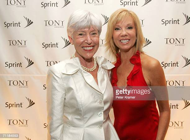 Kathie Lee Gifford and Alice McMullin pose for a photo at the Sprint Lounge during the 60th annual Tony Awards at Radio City Music Hall June 11 2006...